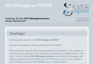 The SILVERengines NEWS